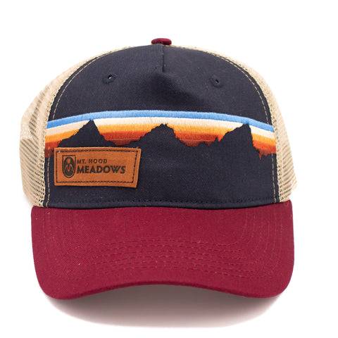 Mountain Sunset Stripe Cap