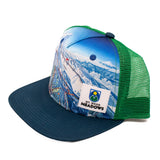 Flatbrim Trail Map Hat