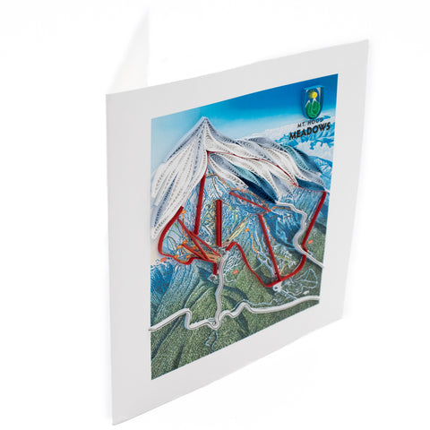 Trail Map Quilling Art Card