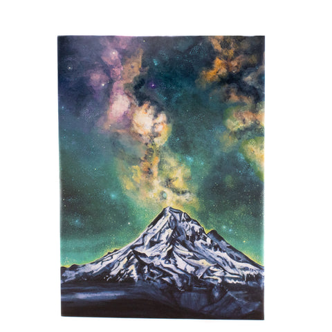 Starry Mt. Hood Greeting Card