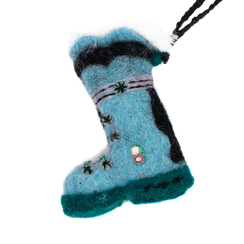 Wool Ski Boot Ornament