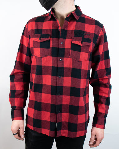 The Voyager Flannel - Red and Black