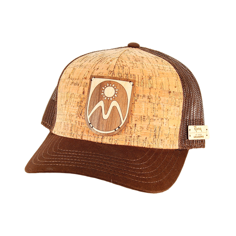 Cork and Wood Trucker Hat