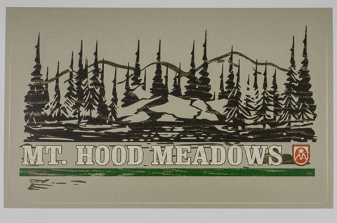 Mountain Treeline Sticker