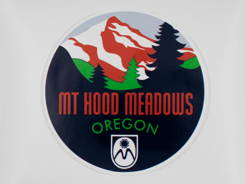 Mt Hood Meadows Circle Sticker