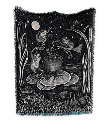 Pond Potions Woven Tapestry Blanket
