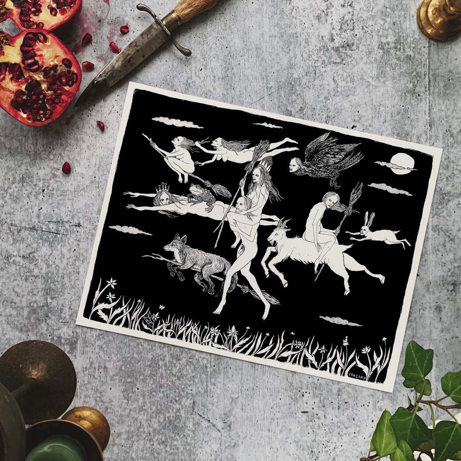 The Flight of the Witches Fine Art Print