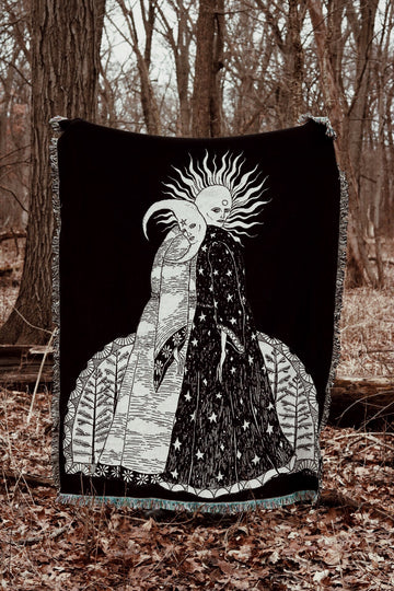 The Alchemical Marriage Woven Tapestry Blanket