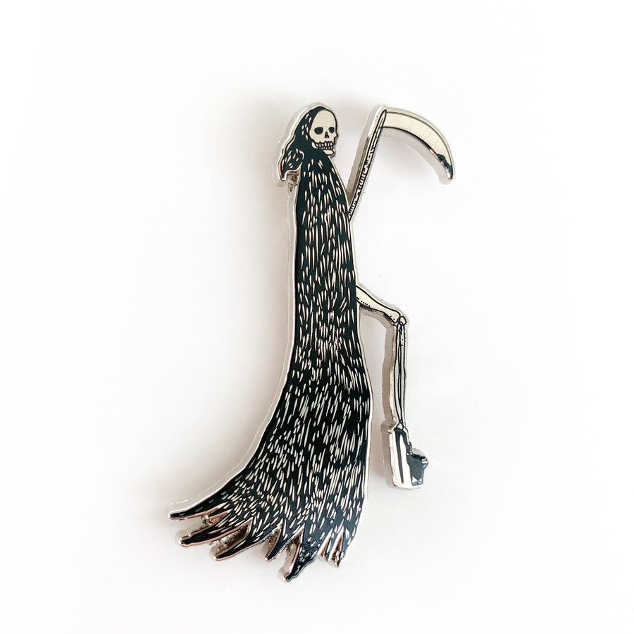 The Glam Reaper Cloisonné pin (Silver)