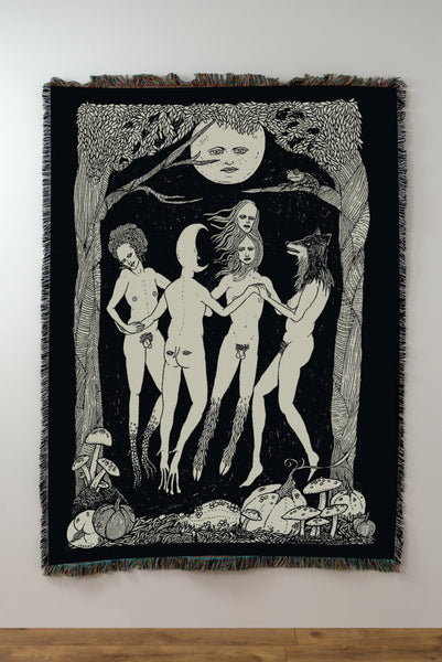 Pre-Sale: The Moon Dance Woven Blanket / Tapestry