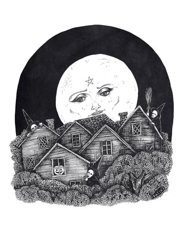 Full Moon over Salem Fine Art Print