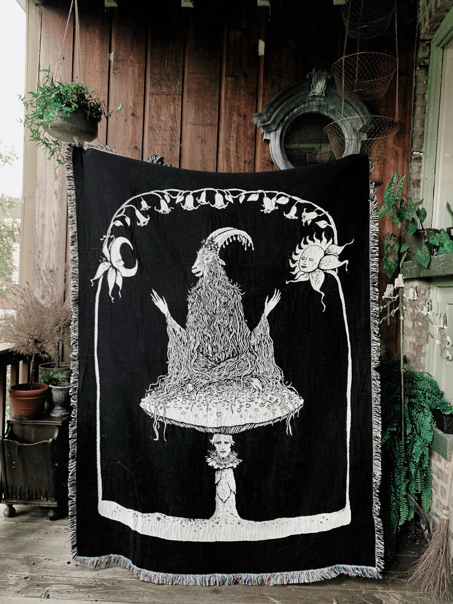 The Birth of Darkness and Light Woven Tapestry Blanket
