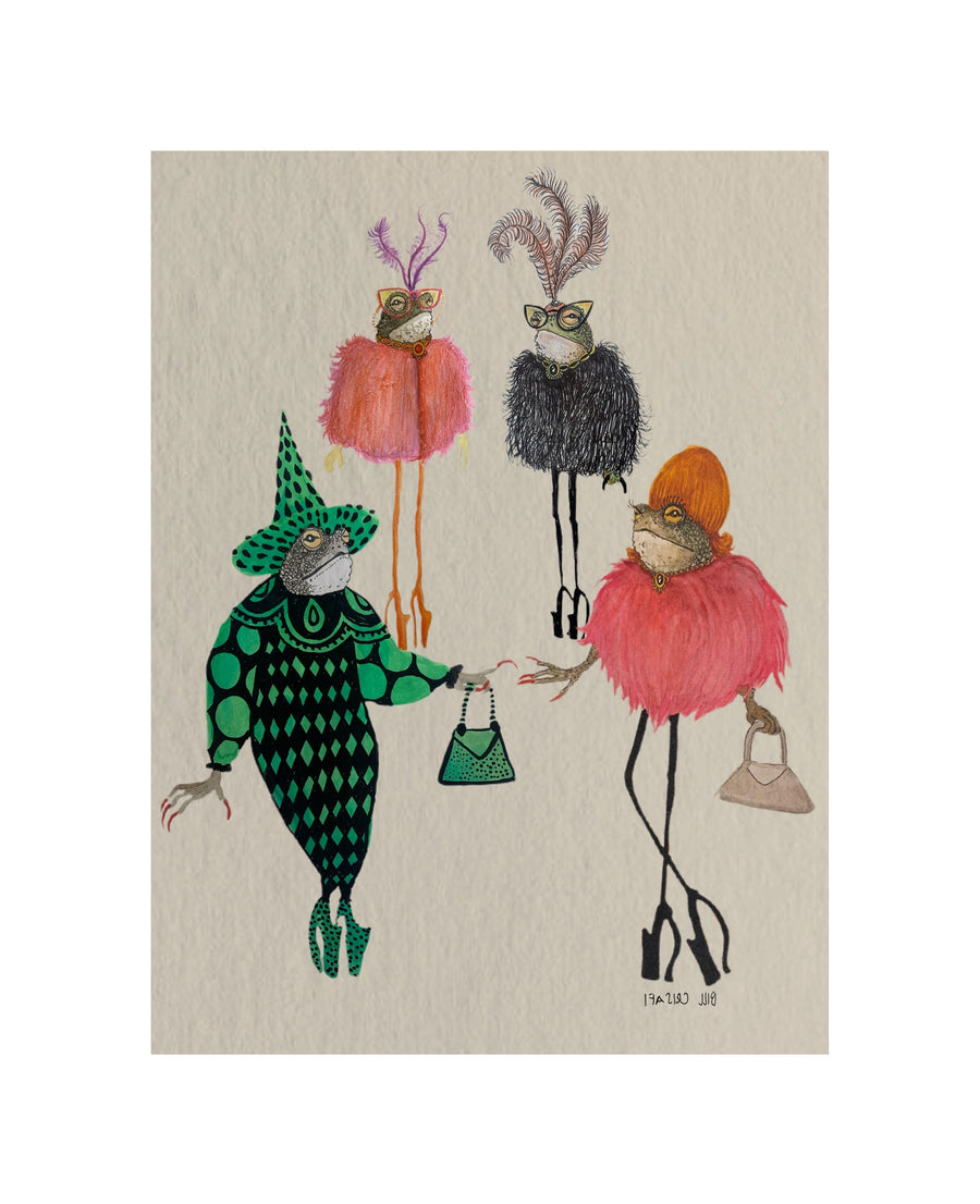 Fashion Toads Fine Art Print