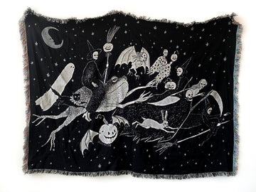 *Pre-Sale* Halloween Night Woven Tapestry Blanket
