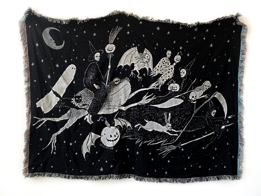 Halloween Night Woven Tapestry Blanket