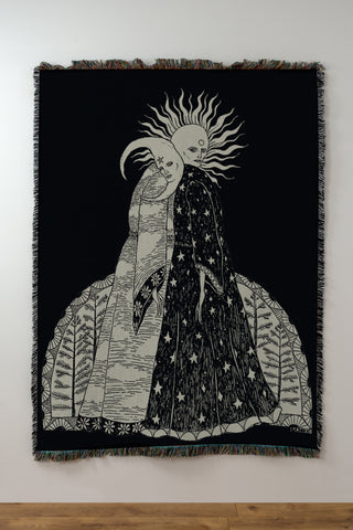 The Alchemical Marriage Woven Blanket / Tapestry