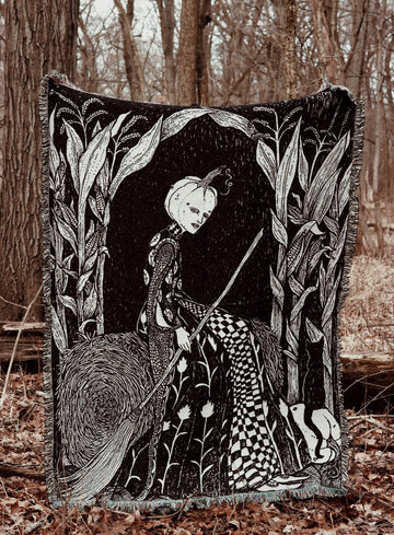 The Spirit of October Woven Tapestry Blanket