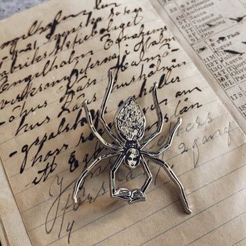 The Reading Spider Cloisonné Pin