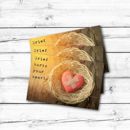 C1001 Bandaged Heart Hospice Sympathy Card