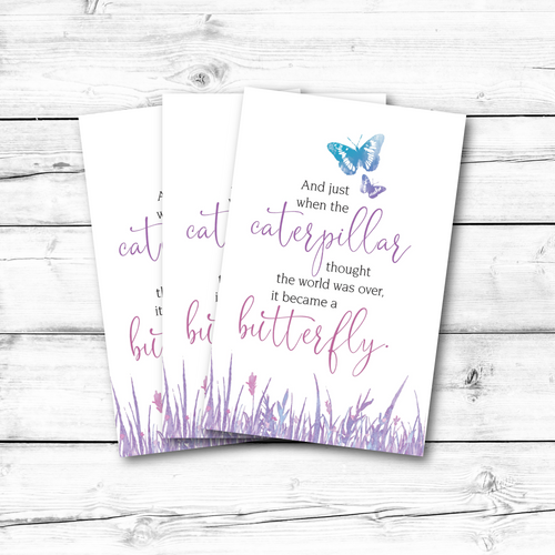 C1004 Caterpillar/Butterfly Note Card