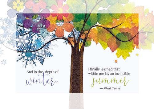 C114 Four Seasons Tree Anniversary of Loss Card - Hospice