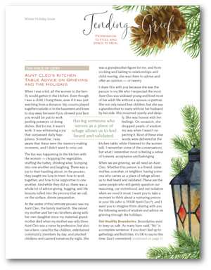 N3001Tending Grief Winter Holiday Newsletter