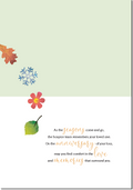 C1002 Four Seasons Tree Anniversary of Loss Card - Hospice