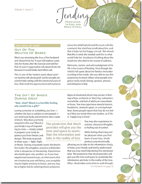 N112 Tending Grief Newsletter Issue 2