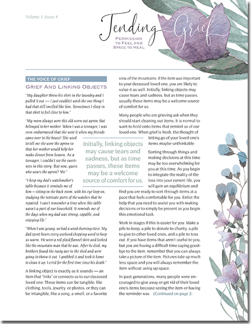 N114 Tending Grief Newsletter Issue 4