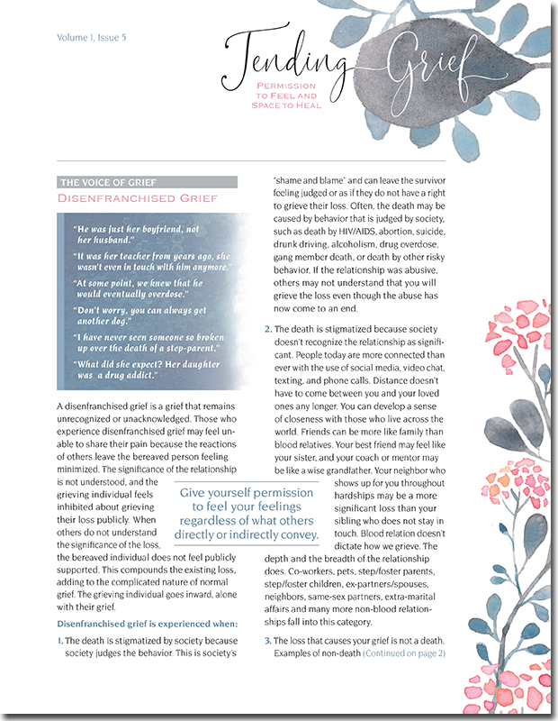 N115 Tending Grief Newsletter Issue 5
