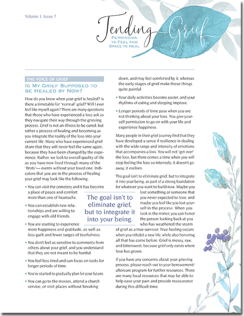N117 Tending Grief Newsletter Issue 7