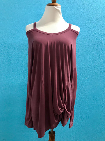 Mauve Long Sleeve w/Neck Band