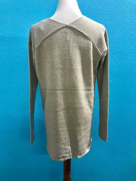 Silver VNeck Sweater