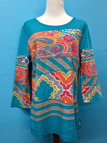 Multiples Patch Print Tunic