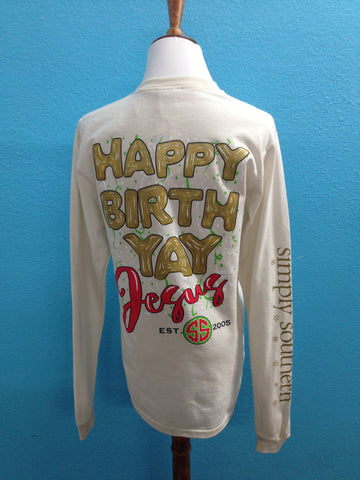 Simply Southern Happy Bday Jesus Long Sleeve Tee