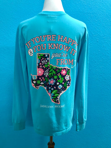 JLB Happy Texas Long Sleeve Tee