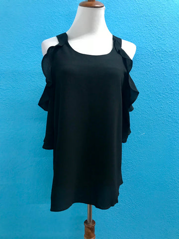 Black Cold Should Ruffle Top