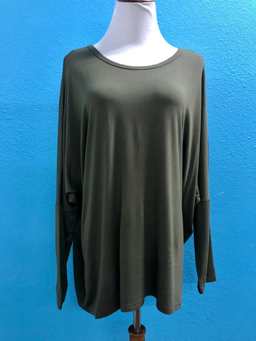 Olive Long Sleeve w/Strappy Back