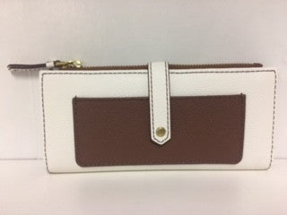 Fossil Keely Clutch / Brown & Tan