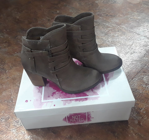 Not Rated Taupe Strappy Bootie