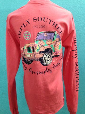 Simply Southern Sweet Strawberry LS Tee