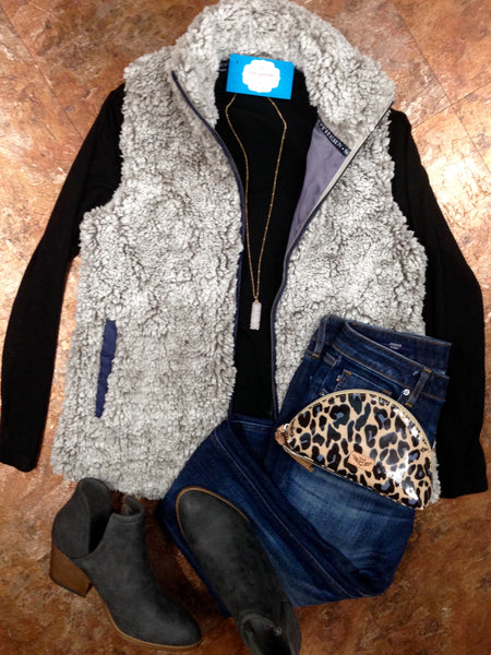 Simply Southern Sherpa Vest - (Pearl)