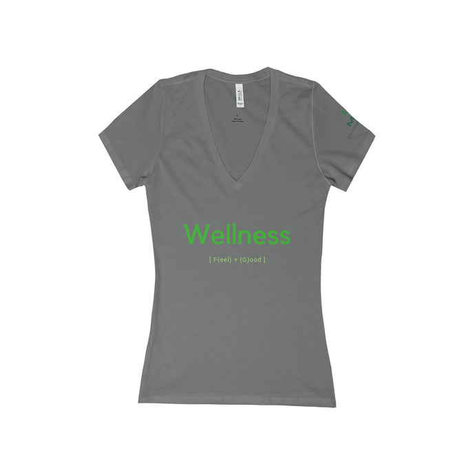 Women's Deep V-Neck Jersey Tee - My Vibration Plate