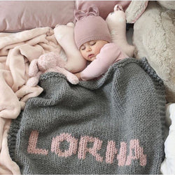 Light grey & baby pink name