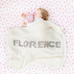 Cream blanket & mink name