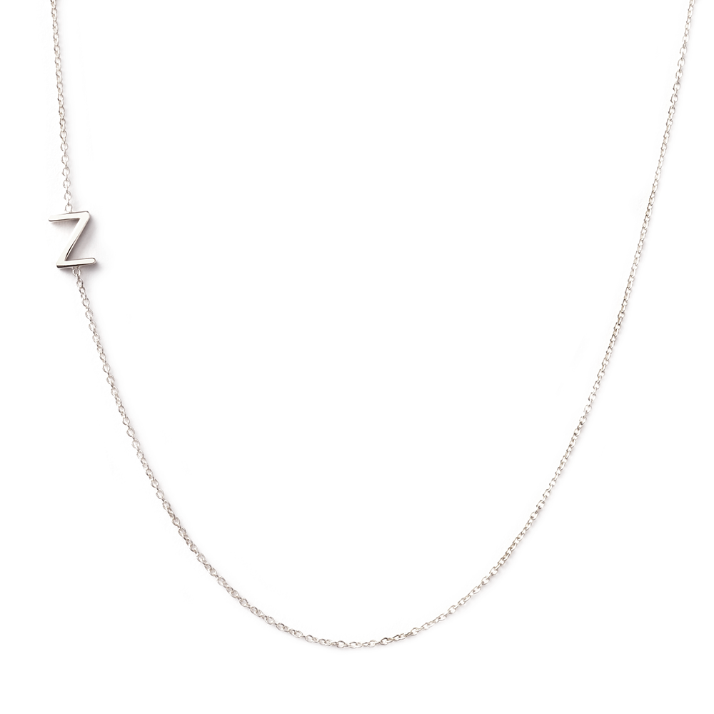 14k gold asymmetrical letter necklace z