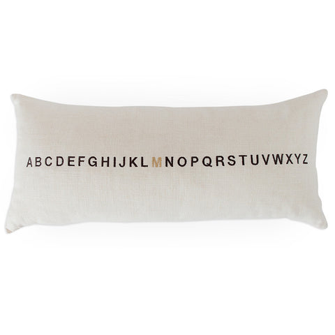 Letter Lumbar Pillow