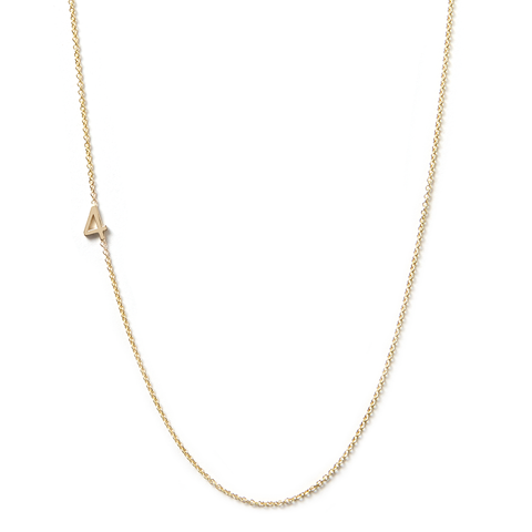 14K GOLD ASYMMETRICAL NUMBER NECKLACE - 4