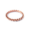 Caviar Bead Layering Ring - Rose Gold
