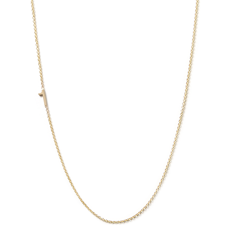 14K GOLD ASYMMETRICAL NUMBER NECKLACE - 1